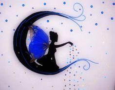 Enchantment of the Moon - Fairy Silhouette - Magic Dreams - Child Room Decor - Wall Decor