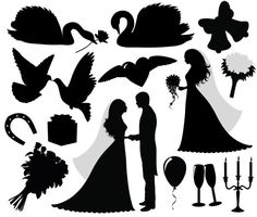 Wedding Silhouette vector design