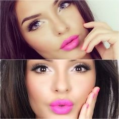 fantastic lipstick color and love the subtle smokey eyes.
