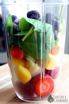 Rainbow Smoothie | Cook Like a Cavewoman! | Easy Paleo Recipes for Feel-Good Eating
