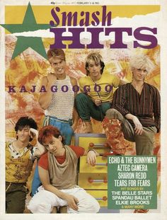 23 Amazing Smash Hits Covers From The Music Magazines, Vintage Magazines, 80s Music, Dance Music, Fun Boy Three, Echo And The Bunnymen, Tears For Fears, Band Pictures, I Love Music