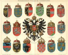 Austro-Hungarian heraldry. (OK, so this isn't folk art, but it fits in this…