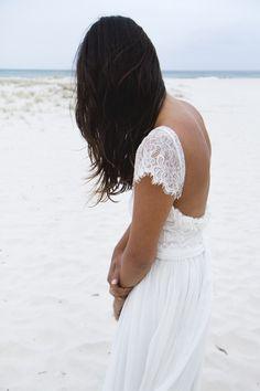 Boho lace wedding dress by Grace loves lace www.graceloveslace.com