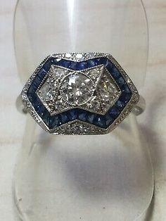 Natural Sapphire Rings, Sapphire Diamond, White Gold Rings, Vintage Rings, Clarity, Heart Ring, Diamonds, Sparkling Diamond, Engagement Rings