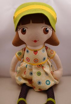 Adele  handmade cloth doll by catinkahinkebein on Etsy, $65.00