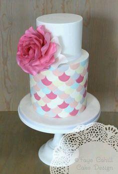 Faye Cahill gelato coloured christening cake