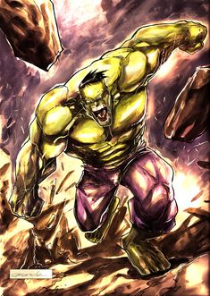 #Hulk #Fan #Art. (Hulk) By: Johnnymorbius.