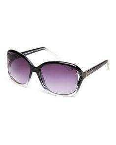 Tommy Hilfiger Black Ombré Jade-WP XL Square Sunglasses