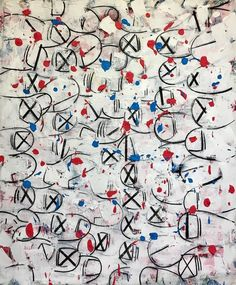 "Use horizontal. This can be interpreted in many ways, however I see fingers in motion. Large Modern Painting ""Confetti Days"" by Eric Stefanski 