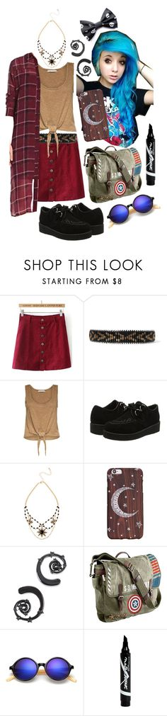 """Shopping Spree"" by xxx-marshmallow-of-death-xxx ❤ liked on Polyvore featuring Balmain, Alice + Olivia, Hot Topic, Marvel, Maybelline, boho, emo, scene, grunge and alternative"