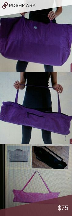 Lululemon Athletica Yogi Tote in Black convertible Excellent condition no flaws. Expands as shown in pictures amazing bag. lululemon athletica Bags Totes