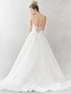 Ella Rosa Style BE383 | illusion lace low back | romantic wedding dress | bridal gown