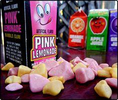 Topps Bubble Gum Juice Cartons