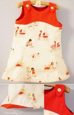 I adore Sarah Jane's Children at Play fabric!