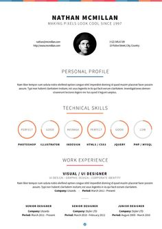 40 creative cv resume designs inspiration 2014 james ward - Resume Design Inspiration