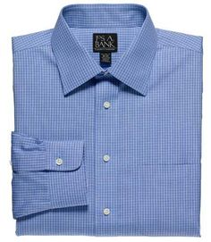 Jos A Bank - 18x37  Traveler Pinpoint Microcheck Spread Collar Dress Shirt Big/Tall