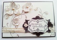 """Geburtstagskarte mit dem Set """"Everything Eleanor"""" von Stampin' Up! in vanille pur und espresso."""