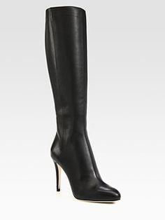 Jimmy Choo - Glory Leather Knee-High Boots