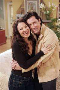 Fran Drescher with Charles Shaughnessy on LIVING WITH FRAN