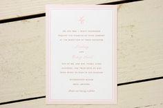 Pink Ticking Wedding Invitations