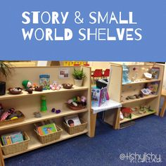 New small world story shelves in the reading and writing area