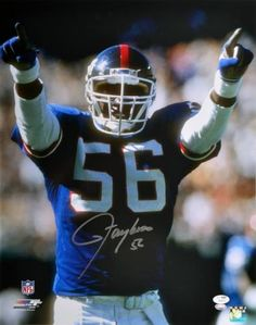 Lawrence Taylor Autographed 16x20 Photo - JSA - Sports Memorabilia #LawrenceTaylor #NewYorkGiants #SportsMemorabilia