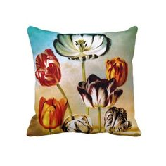 Tulips Under The Sky Pillow
