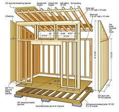 8x12 Lean To Shed Plans 01 Floor Foundation Wall Frame #garden_shed_lean_to