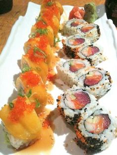 MANGO SPIDER AND DAY & NIGHT SUSHI ROLLS - Sushi Rock - San Francisco, CA