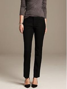 Sloan-Fit Black Straight Leg- try them for fit. Available in long.