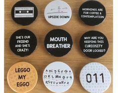 Stranger Things Inspired Pin Badges & Magnets by starstruckmetal