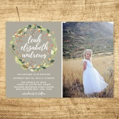 lds baptism invitation girl baptism invitation by westwillow
