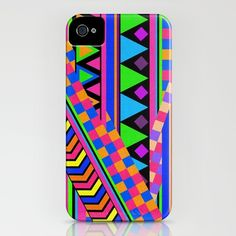 Neon tribal iPhone case