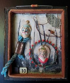 Assemblage: Two Clowns by bugatha1