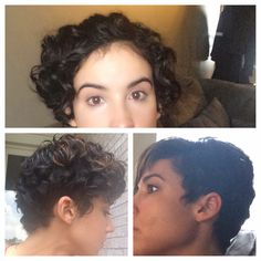 Curly pixie grow out