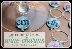 Personalized Bunco wine charms {Easy DIY}, via The V Spot
