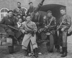 """This is a photo of the danish resistance, or """"freedom fighters', who fought against the Nazi's."""