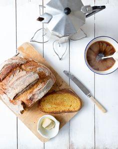 Milk and Honey: No-Knead Spelt and Pumpkin Bread