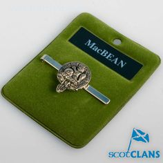 MacBean Clan Crest Tie Slide. Free worldwide shipping available