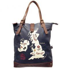 Jan Constantine UK Map Shopper - new bag for autumn