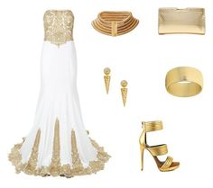 """""""Stunning evening outfit.."""" by normah on Polyvore featuring Jovani, Noir Jewelry, Milly, Mia Limited Edition, Balmain and RedeemedClothing"""