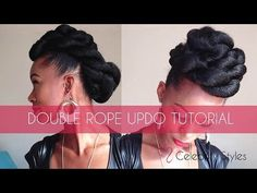 Hair Tutorial: EASY Double-Rope Updo with Kankekalon Jumbo Braid - YouTube
