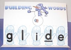 Easy Easel Word Building, Winter Theme product from Crocketts-Classroom on TeachersNotebook.com