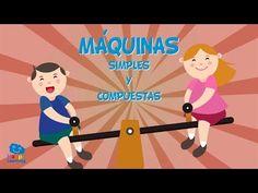 MÁQUINAS SIMPLES Y COMPUESTAS | Vídeos Educativos para niños - YouTube Simple Machines, Social Science, Science And Nature, Inventions, Homeschool, The Unit, Math, History, Videos