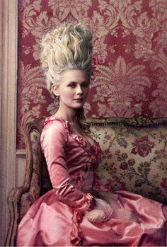 Kirsten Dunst as Marie-Antoinette (by Annie Leibovitz)