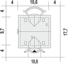 Rzut projektu Dom Dla Ciebie 3 bez garażu [B] Floor Plans, House Styles, Plane, House, Airplane, Airplanes
