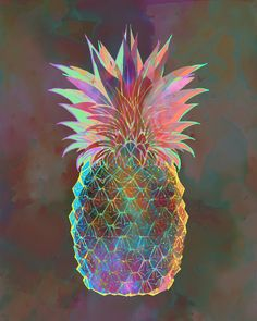 Pineapple Express Art Print by SchatziBrown #pineapple