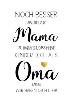 Spruch-Poster zum Muttertag: Für Mama und Oma / poster as a Mother's Day gift, family saying made by goldtupfen via DaWanda.com