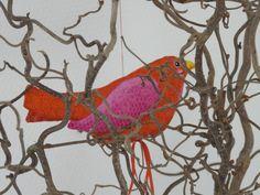 oiseau rouge d'Odile Bailloeul.