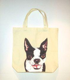 Animal Lover Tote Boston Terrier on Etsy, $12.50